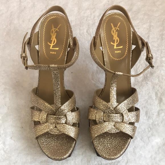 029f967f74 YSL TRIBUTE 105 Sandal in Sahara Gold size 42. NWT